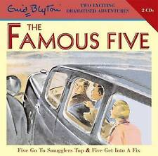FAMOUS FIVE: FIVE GO TO SMUGGLERS TOP & FIVE GET INTO A FIX- Enid Blyton - 2 CDs