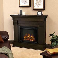 Real Flame Dark Walnut Chateau 40.94 in. L x 11.81 in. D x 37.6 in. H Electric F