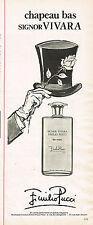 PUBLICITE ADVERTISING 124  1977  EMILIO PUCCI eau de toilette SIGNOR VIVARA