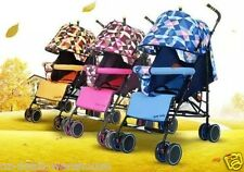 Baby Stroller Pram with 5 Position Seat foot brake and big basket - Pink Colour