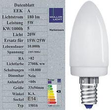 Sonderposten 5W Energiesparlampe E14 Kerze 20W Licht Kerzenlampe 35x98mm 15016