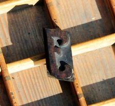 letter: J rare wood type letterpress printing block woodtype font antique print.