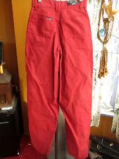 24x32 True Vtg 80's Womens Straight burgundy New Wave Disco Jeans by BLAZE