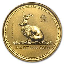 1999 1/10 oz Gold Australian Perth Mint Lunar Year of the Rabbit Coin - SKU#8993