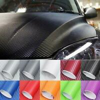 5D Auto Twill-Weave Kohlefaser Vinyl Membran Aufkleber Stil Film 10x127cm Dekor