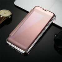 Nouveau For Samsung Galaxy Hard Case Mirror Flip Housse Coque Etui Stand Cover