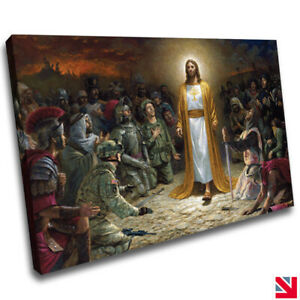Christianity Jesus Christ Christian CANVAS Wall Art Picture Print A4