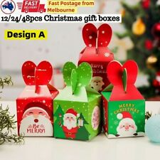 48 Xmas Christmas Gift Boxes Bags Favour Present Wrapping Candy Cookie Box Party