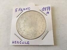 France 5F en argent Hercule 1877 À - TB