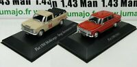 LOT 2 Voiture 1/43 SALVAT Autos Inolvidables : Fiat 1500 et 1500 Multicarga