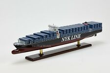 "NYK Line Handmade Wooden Container Ship Model 28"" NEW"