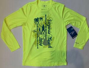 BROOKS Men's XS Fluorescent Yellow Run Jog Long Sleeve Shirt VIRGINIA BEACH New