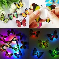 LED Nachtlicht 3D Schmetterling Wandaufkleber Wandsticker Wandtattoos 10er Set