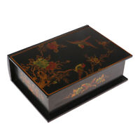 Decorative Trinket Jewelry Storage Box Vintage Wooden Treasure Case Holder
