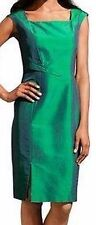 Seidenkleid grün 42 SINGH S.MADAN  Heine Abendkleid Sommerkleid elegant NP140€