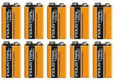 10 Duracell Procell 9V Alkaline 9 V Block Battery PP3 6LR61 MN1604 Smoke Alarm