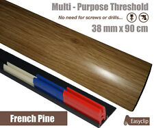 Sample Threshold Strip Adjustable Height&Pivot All Floor Types 38mmx9cm Adhesive