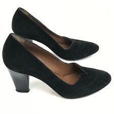 Hobbs Shoes UK 3.5 EU 36.5 Heels Black Suede Leather Smart Formal Women 291986