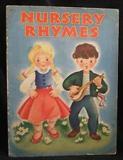 Vintage 1946 Nursery Rhymes illustrated by Erika (Weihs) Whitman Publishing 920