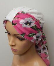 Cappello Bianco Turbante Chemio Cancro Cofano Cappello perdita di capelli  JERSEY Head Wear Set 2 PEZZI 8f05ca2019dd
