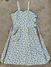 1940s Deco Print Cotton Sundress with Pocket