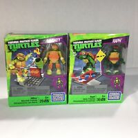 Mega Bloks Teenage Mutant Ninja Turtles Lot Of 2 Mikey And Raph Nickelodeon New