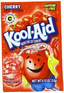 Kool-Aid Cherry Unsweetened Soft Drink Mix 0.13-Ounce Packets 48 Count (2-Boxes)