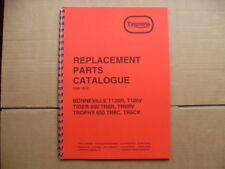 Triumph T120RV, T120R, TR6RV, TR6R, TR6C parts book -1972
