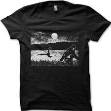 Bigfoot Sasquatch Loch Ness monster Nessie UFO conspiracy printed t-shirt 9054