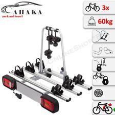AHIRO3 Porte-Vélos 3 Vélos Pliant Refermable Électrique Attelage de Remorque