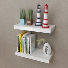 2Pc 40cm Floating Wall Mount Shelves Ornaments Book CD DVD Storage Display Shelf