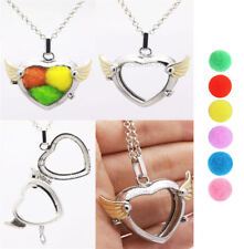 Harmony Ball Pendant Lockets Essential Oil Perfume Diffuser Necklace Angel Wings