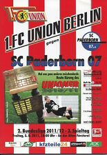 Neues AngebotProgramm 1.FC Union Berlin - SC Paderborn 05.08.2011 - 2.Bundesliga 2011/2012