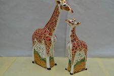 "Royal Crown Derby Paperweight ""MOTHER & BABY GIRAFFE""  1st Quality & Orig Boxes"