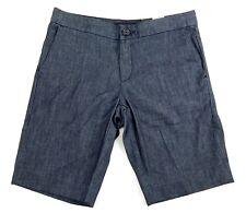 Banana Republic Flat Front Stretch Bermuda Shorts Hampton Fit Blue Womens Size 0