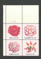 1876-79 Flowers Plate Block Mint/nh Free Shipping