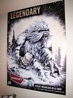"Coors Banquet ""WILD MAN"" Yeti Bigfoot banner poster sign beer"