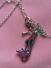 WHOLESALE .999 THICK PLATED NECKLACE AND A CUBIC ZIRCONIA ANGLE WING PENDANT