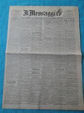 IL MESSAGGERO - QUOTIDIANO - ROMA 12 GIUGNO 1898 - ORIGINALE DI EPOCA