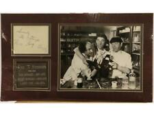"""""""Three Stooges"""" Matted Photo With Autograph Sheet Lot 145"""