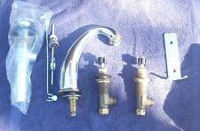 AMERICAN STANDARD 3841.000.002 002 LAVATORY FAUCET W/ NEW HANDLES CHROME FINIS