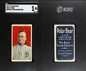 1909-1911 T206 Ty Cobb Red Portrait Detroit Tigers HOF SGC 1 ***Polar Bear***