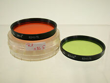 No Name Orange Grün Green Filter Lens Foto Photo Picture Bild 62mm 62 E62 Set (7