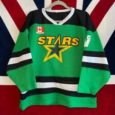 More details for retro stars canadian green ice hockey jersey  small genuine rare nhl usa