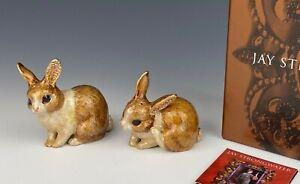 Jay Strongwater Bunny Rabbit Salt & Pepper Shakers Swarovski Crystals NIB