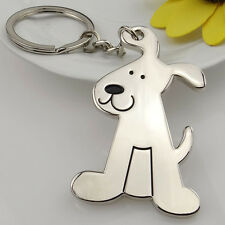 Cute Dog Keychain Metal Car Key Ring Pet Design Creative Gift 1 Piece