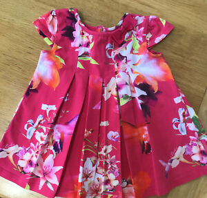 Ted Baker Baby Girl's Floral  Summer Dress Size 3-6 Months