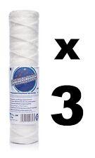 "3 x 1 micron string wound filter 10"",Bio-diesel,wvo vegetable oil filter!"