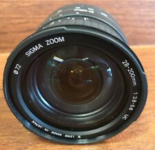 Sigma 28-200mm D f/3.8-5.6 Aspherical UC Zoom Lens for Minolta Made In Japan