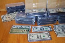 500 STANDARD SEMI-RIGID PLASTIC CURRENCY HOLDERS. Lot# LLA